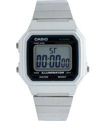 reloj  plateado casio