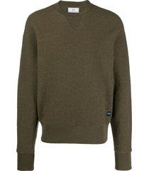 ami paris boiled wool sweatshirt - green