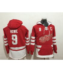 men's detroit red wings 9 gordie howe hockey pullover hoodie jersey