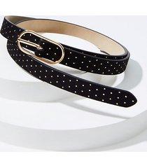 loft studded oval buckle belt