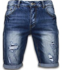 enos korte broeken slim fit torn look shorts