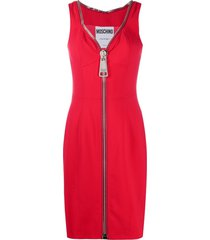 moschino zip-up cocktail dress - red