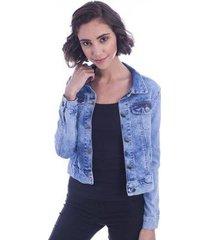 jaqueta jeans long island flawless feminino