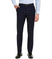 hugo hugo boss men's classic-fit navy plaid suit separate pants