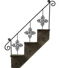 porta chaves escada de metal - multicolorido - dafiti
