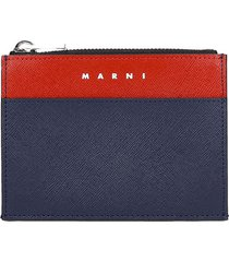 marni wallet in blue leather