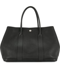 hermès 2009 pre-owned garden party tote bag - black