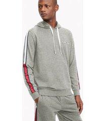 tommy hilfiger men's lounge hoodie gray heather - xl