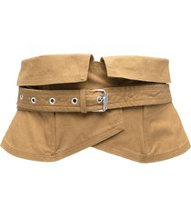 isabel marant étoile long-line layered belt - brown