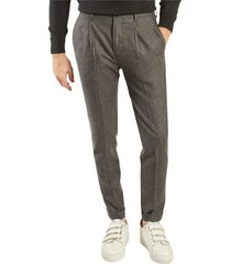 wool pleated formal trousers