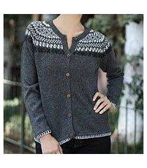 alpaca blend sweater, 'junin elegance' (peru)