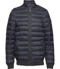 aiden bomber down jacket fodrad jacka blå lexington clothing