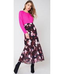 na-kd mesh ankle length skirt - multicolor