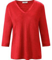 shirt 100% linnen v-hals van peter hahn pure edition rood
