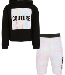 river island girls tie dye hoodie and shorts outfit