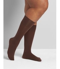 lane bryant women's solid trouser socks 2-pack onesz chocolate truffle