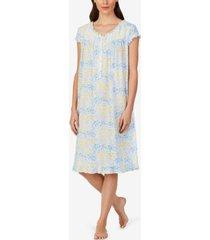 eileen west ruffled floral-print waltz nightgown