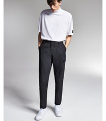allen onyia for inc men's regular-fit twill cargo pants, created for macy's