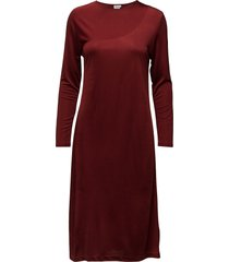 drape jersey dress dresses knitted dresses röd filippa k