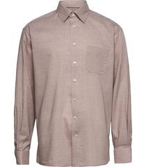 classic fit business casual light weight flanell shirt overhemd casual bruin eton