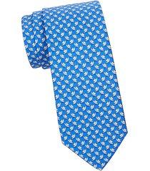 fedora-print silk tie