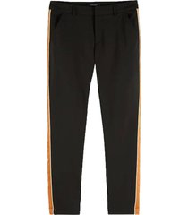 broek tailored stretch zwart