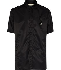 1017 alyx 9sm buckle detail button-up shirt - black