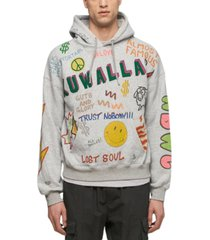 kuwallatee men's mash-up hoodie