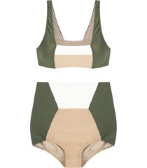 adriana degreas hot pants bikini set - green