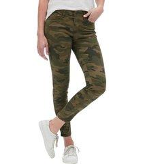 jeans legging camuflado verde gap