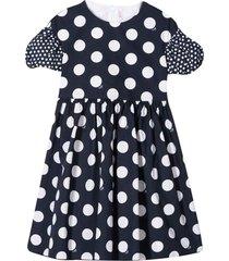 il gufo black polka-dot dress