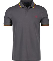 donkergrijs poloshirt heren fred perry