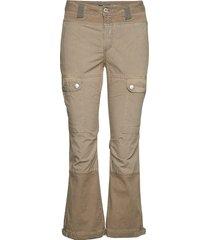 cargo slim utsvängda byxor beige please jeans