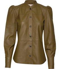 bari blus långärmad brun custommade