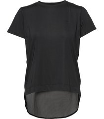 mesh back tee t-shirts & tops short-sleeved svart röhnisch