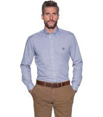 campbell casual shirt met lange mouwen blauw