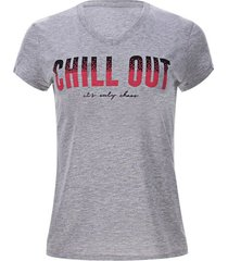 camiseta chill out color gris, talla l