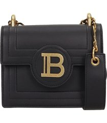 balmain b-bag shoulder bag in black leather