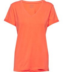 adele tee t-shirts & tops short-sleeved orange minus