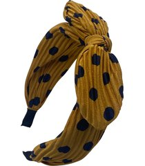 tasha dot knotted headband, size one size - yellow