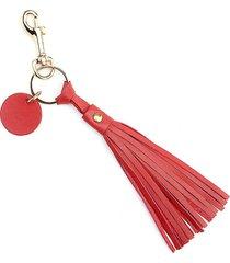 royce new york tassel key chain - red