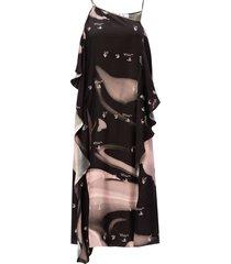 asymmetrische jurk op bandjes