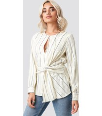 mango rain blouse - white