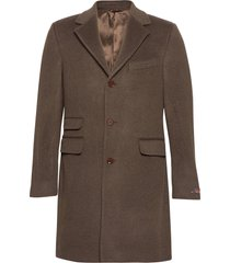 wesley wool cashmere coat wollen jas lange jas bruin morris
