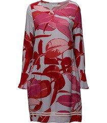moss crepe dress w. branch print & knälång klänning röd coster copenhagen