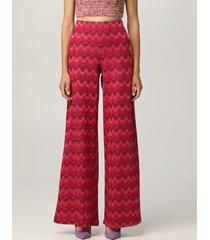 m missoni pants m missoni pants in zigzag lurex cotton blend knit