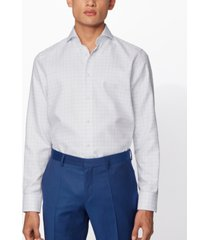 boss men's t-sam light pastel blue shirt