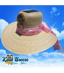 kool breeze solar floppy fan hat, straw hat, solar cooling hat, solar new