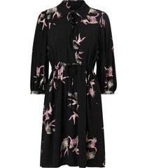 klänning slfallison-damina 3/4 aop short dress