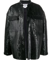 maisie wilen oversized embossed jacket - black